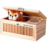 Dulcii Cartoon Creative Don't Touch Tiger Useless Box Unique Musical Wooden Box Jokes Funny toys for friends and kids, wooden children toy