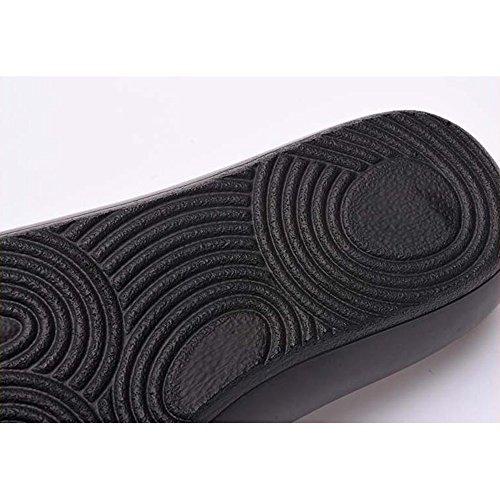 Verano de y 1 Sandalias Zapatos Color de opcional planas Graffiti Estados Zapatillas T pendiente Sandalias de 1 moda de Unidos Talón mujer Color Europa Mujeres tamaño de Sandalias exterior cuero rrO0qw