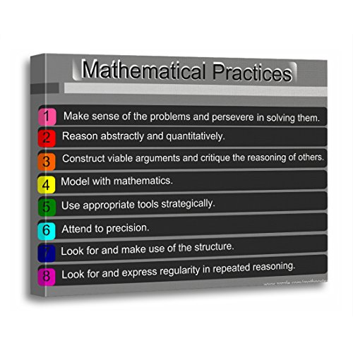 TORASS Canvas Wall Art Print Common for Mathematical Practices Core Mathematics Middle School Artwork for Home Decor 16