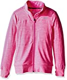 Skechers Girls' Big Space Dye Mock Neck Track Jacket, Sugar Plum, M