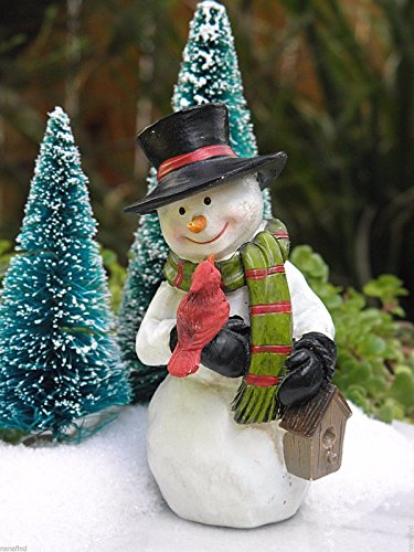[1 ^^ ^ Miniature Dollhouse FAIRY GARDEN ~ CHRISTMAS Snowman with Cardinal & Birdhouse] (Monster High Snow Girl Costume)