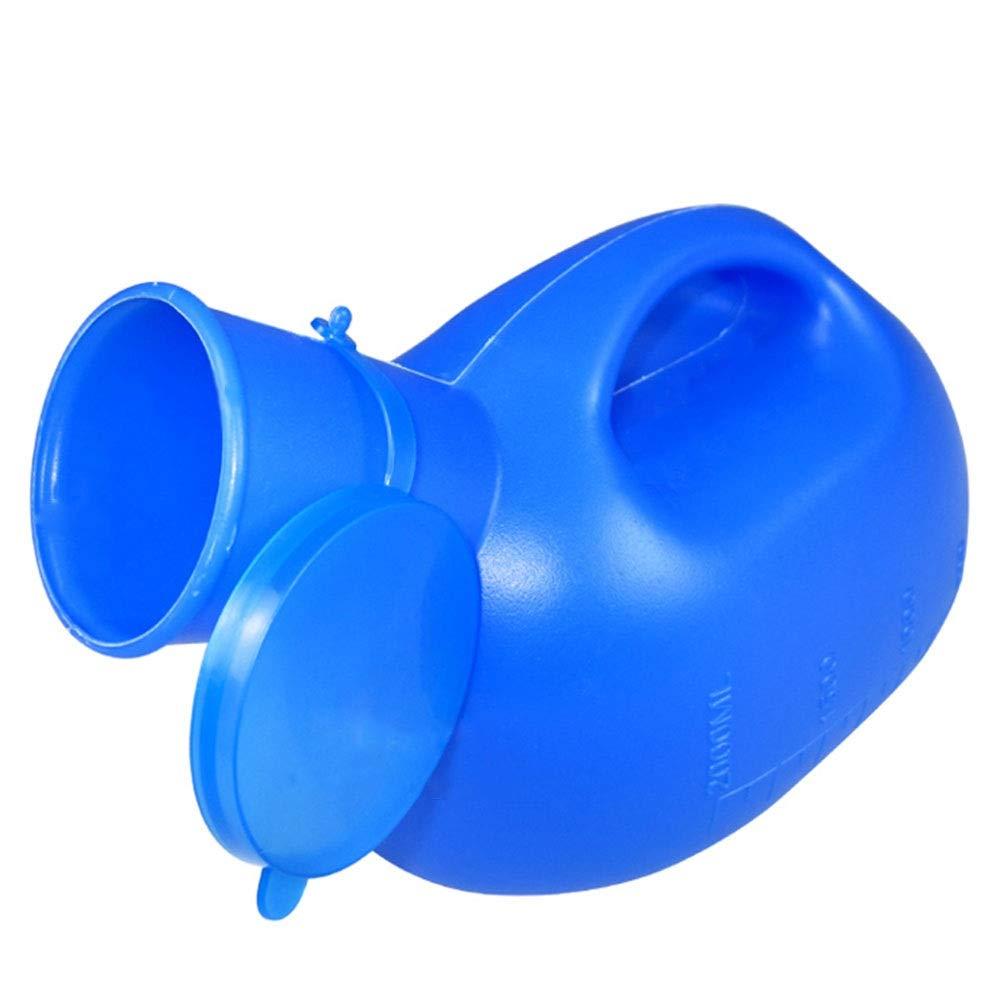 Tourisme GAPING 2 L Hommes Grande Capacit/é Urinoir Avec Couvercle D/étanch/éit/é /Étanche D/éodorant Adulte Urinoir Portable Soins Infirmiers Color : White Conduite Longue Distance Bleu//Blanc