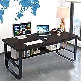 Lucoo Laptop Table Computer Desk Home Desk Student Writing Desktop Desk Adjustable Side Table Home Mobile Table Tray Desk Modern Economic Computer Desk (Black)