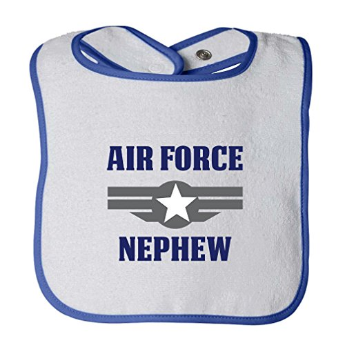 Air Force Nephew Infant Contrast Trim Terry Bib White/Royal Blue ()