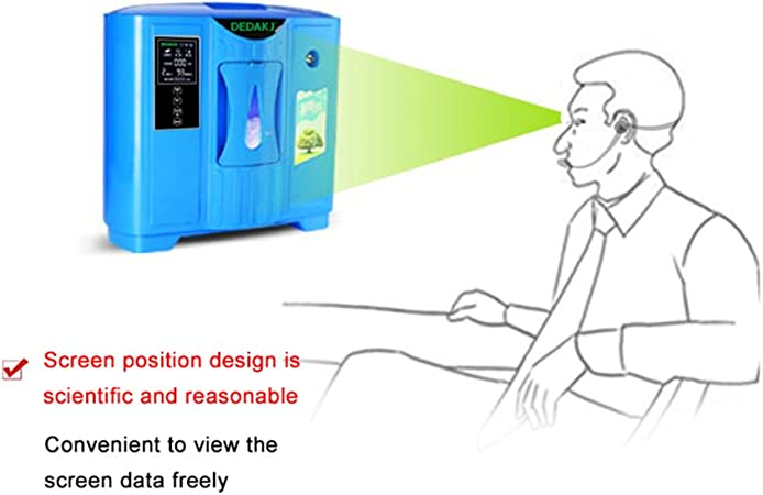 TOPQSC Generador portátil del oxígeno concentrador de oxígeno para ...