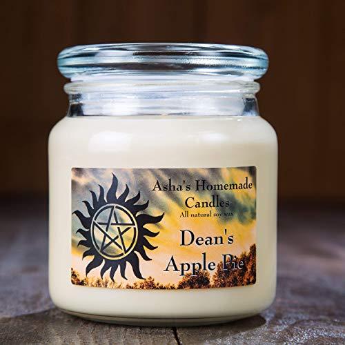 Supernatural Soy Candle Dean's Apple Pie Scented (16 oz) Fandom Gift Idea ()