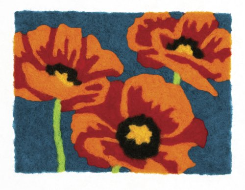 Dimensions Needlecrafts Felt Art Poppies Needle Felting by Dimensions Needlecrafts