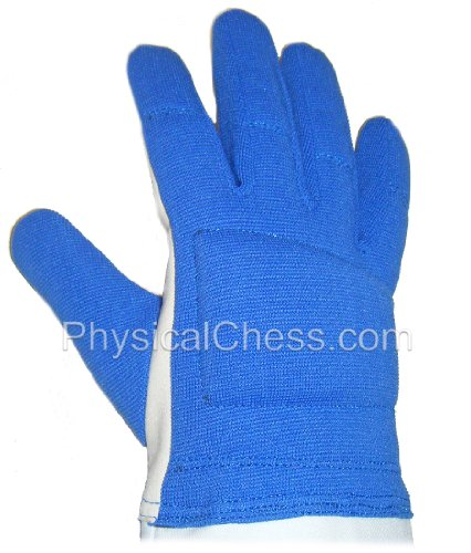 Washable palm nylon back fencing glove