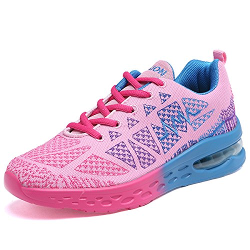 JARLIF Frauen Athletische Laufschuhe Mode Sport Air Fitness Workout Gym Jogging Wanderschuhe US5.5-10 Rosa