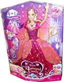 Barbie The Diamond Castle DVD Series 12 Inch Singing Doll - Princess Liana with Transforming Dress, Light-Up Necklace and Hairbrush (Caucasian - M0785)