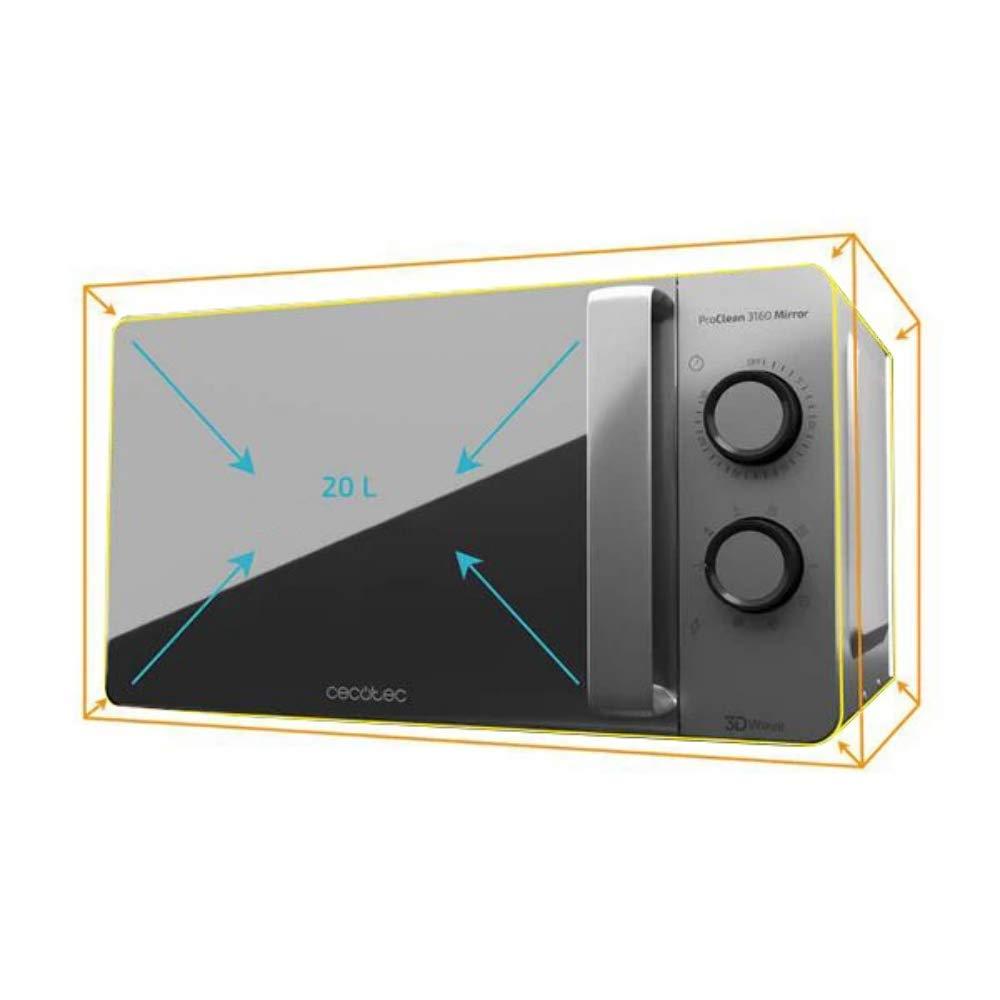Cecotec Microondas con Grill ProClean 3160 Mirror . Capacidad de ...
