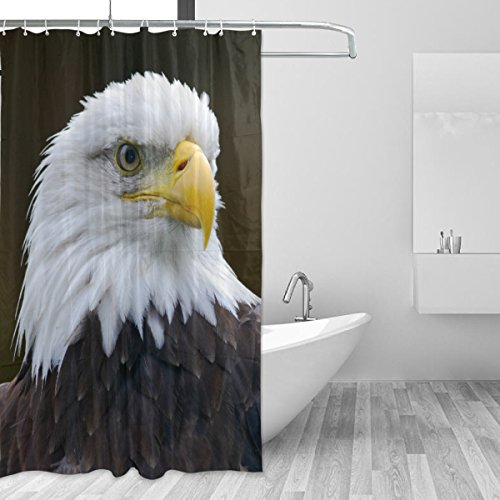 Price comparison product image American Bald Eagle Waterproof Polyester Bathroom Shower Curtain Set for Home Decor with Hooks,60W X 72L Inches