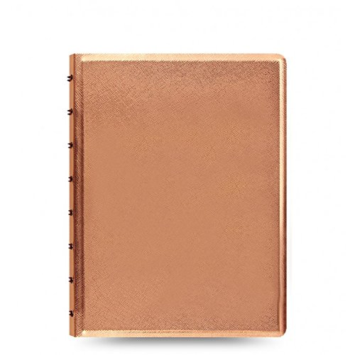 Filofax A5 Notes Refillable Notebook- New 2017 Edition! (Rose Gold)