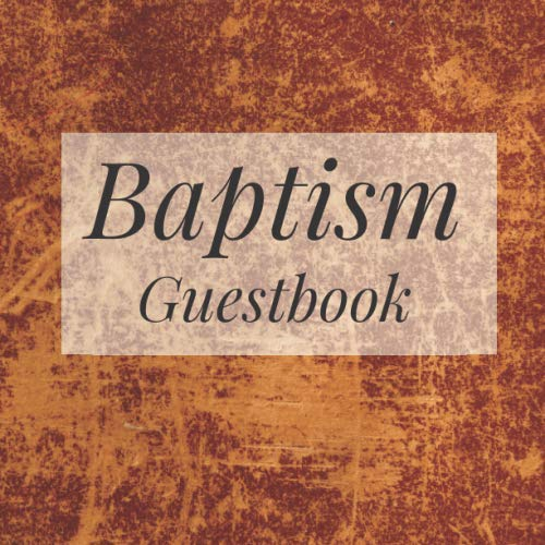 Baptism Guestbook: Brown Rustic Faux Leather Shabby Chic - Holy Christian Celebration Party Guest Signing Sign In Reception Visitor Book, Baby Girl ... Advice Wishes, Photo Milestones -