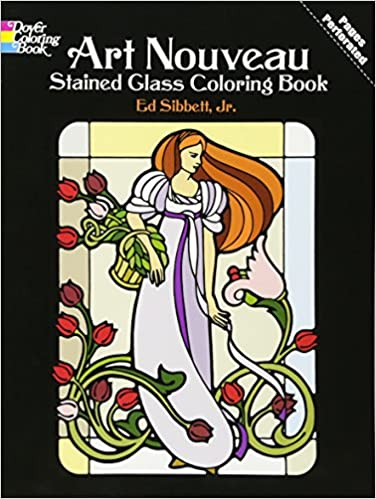Art Nouveau Stained Glass Coloring Book (Dover Design Stained Glass ...