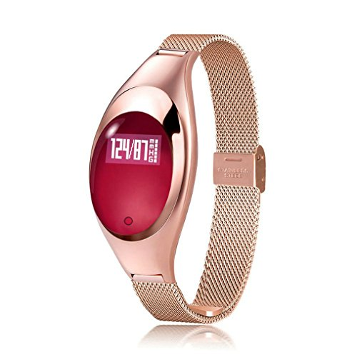 Fitness Tracker Watch,JIAMEIYI Z18 Women Sleep Monitor Smart Bracelet with Intelligents Heart Rate Blood Pressure Monitor for IOS and Android (Gold) by JIAMEIYI