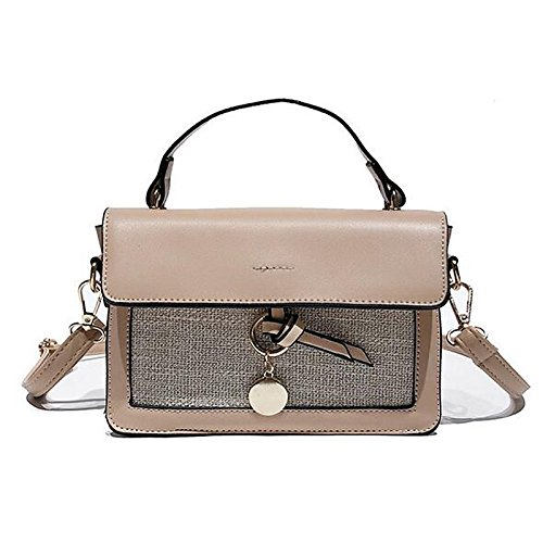 Red Bag Women's GMYANDJB PU Blushing Shoulder Buttons Pink Polyurethane Bags Shoulder Bags Pink Brown Blushing zqqgAF