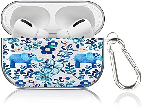 Airpods Pro Case,Meidao Cute Elephant Hard Protective Case Cover 2019 LED Visible Shock-Absorbing Case with Keychain Fits Apple Airpods 3 Charging Case-Elephant