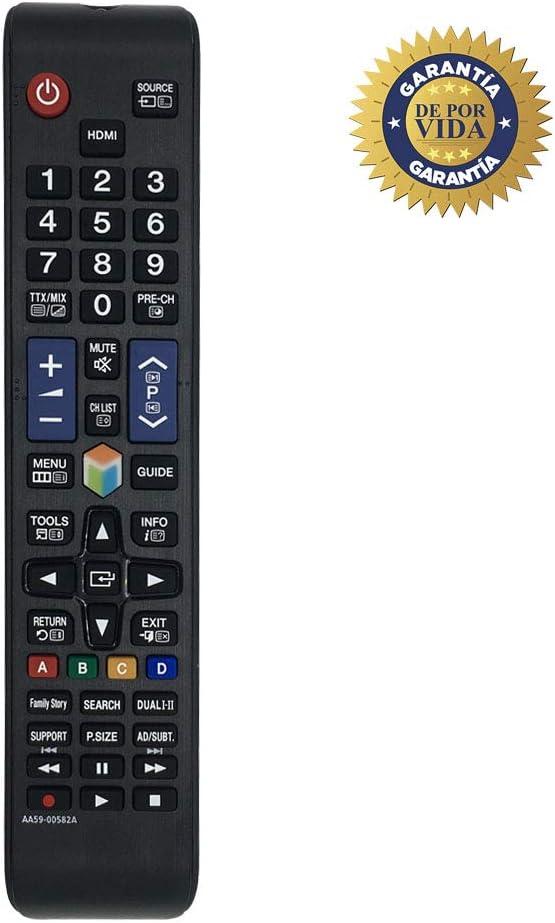 MYHGRC Reemplazo del Control Remoto Samsung AA59-00582A AA59-00581A Control Remoto Ajuste La mayoría de los televisores LED con Pantalla LCD Samsung 3D LCD