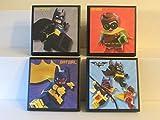 Batman Room Wall Plaques - Set of 4 - Set #2 - Batman Boys Room Decor - Lego Batman -  ScooBaDee Gifts