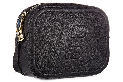 Bally borsa donna a tracolla pelle borsello tipsy nero