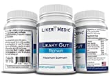 Cheap Leaky Gut Repair Supplements by Liver Medic | Best Gut Healing Support. Heartburn Support. Advanced Digestive – L-Glutamine, Slippery Elm, Zinc, NAG – 60 Veggie Capsules