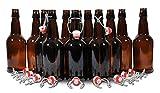 Home Brew Ohio Beer Bottles, 16 oz., Amber (Pack of 12)