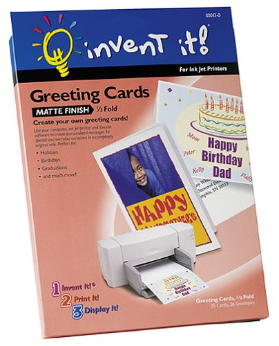 Amazon invent it half fold matte finish greeting cards invent it half fold matte finish greeting cards m4hsunfo
