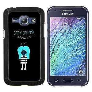 LECELL--Funda protectora / Cubierta / Piel For Samsung Galaxy J1 J100 -- Dilema diario --