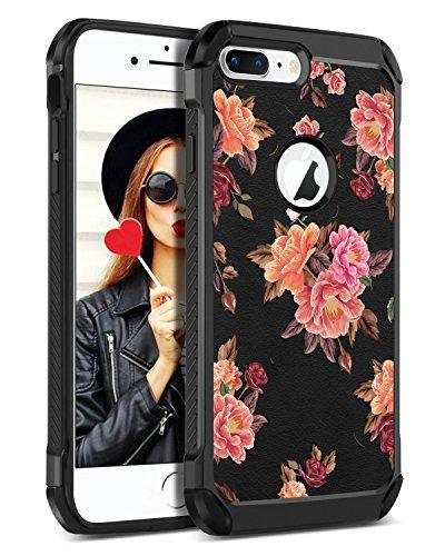 new style 132c7 37f81 BENTOBEN iPhone 8 Plus Case, iPhone 7 Plus Case, Cute Pattern Full Body  Heavy Duty Shockproof 3 in 1 Hybrid Hard PC Soft Sili