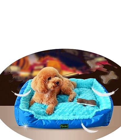 Caseta para Mascotas, Nido Cuadrado, Tapete para Perros Mediano Y Grande, Caseta Grande