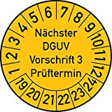 Geprüft nach DGUV Vorschrift 3 Prüfplakette, 500 Stück, in