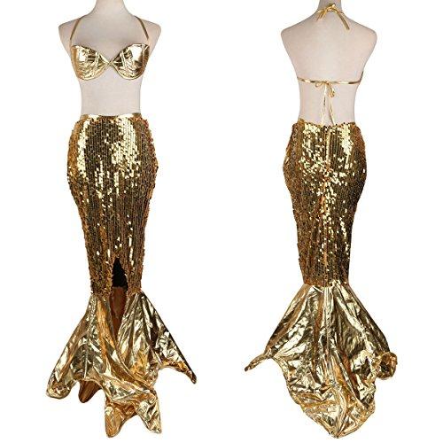 JNTworld Halloween Frauen Sexy Kostüm Partei Scales Mermaid Kleid ...