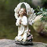 Joseph's Studio 16″ Kneeling Angel Garden Statue For Sale