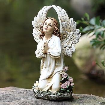 This Item Kneeling Angel Garden Statue