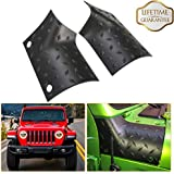 KIWI MASTER Cowl Body Armor Outer Cowl Covers JL Corner Guards for 2018 2019 Jeep Wrangler JL Gladiator Sahara Sport Rubicon, JL Exterior Accessories Parts, Black