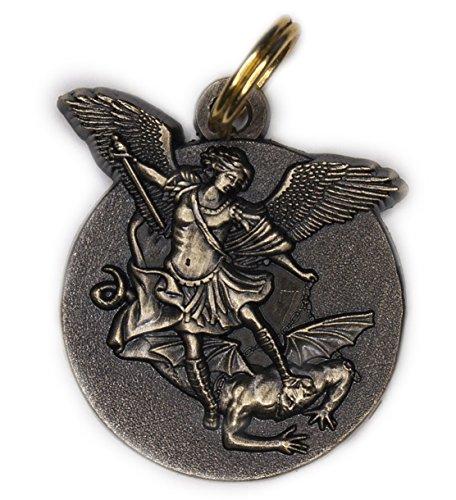 - 20mm - 23mm Saint Michael Medal BRONZE Antique