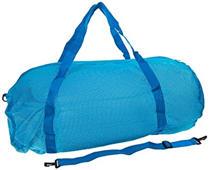 Sportime Oversized Mesh Duffel Bag - 36 x 15 inches - Blue