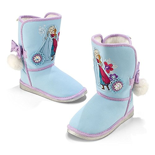 Disney Store Frozen Anna and Elsa Winter Boots for Girls Size 9