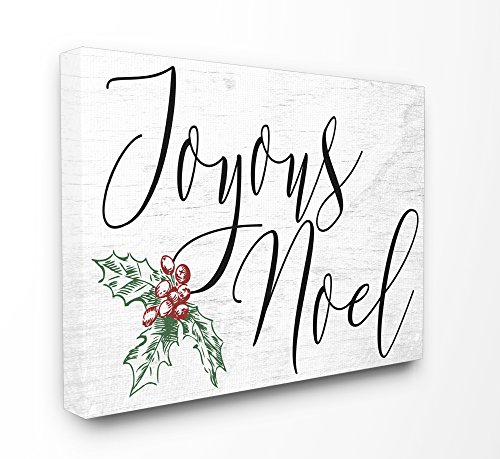 Stupell Industries Joyous Noel Christmas XXL Stretched Canvas Wall Art, Proudly Made in USA