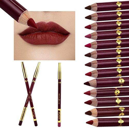 ABCsell 13 Color Microblading Permanent Lipstick Makeup Tattoo Lip Liner Pencil Lipstick Long Lasting Lip Scrubs Do Not Bleach