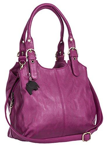 BHBS Bolso Mediano para Dama con Correa Larga para Hombro 33x26x13 cm (LxAxP) Violet Purple (Plain S105)