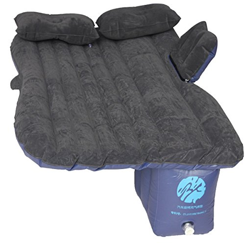 KING DO WAY Luftmatratze Luftbett fuer autos selbststeuerung bett luft schlafen camping car ruecksitz rest aufblasbare matratze Camping aufblasbare Matratze Schwarz