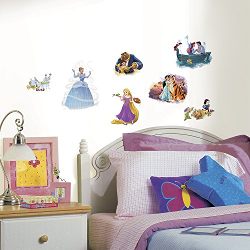 RoomMates RMK3278SCS Disney Princess Dream Big Peel & Stick Wall Decals (Stick Disney Princess)