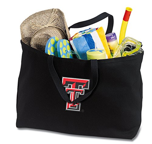 Broad Bay JUMBO Texas Tech Red Raiders Tote Bag or Large Canvas Texas Tech Shopping Bag by Broad Bay