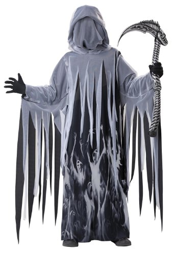 Halloween Costumes Not Scary (Soul Taker Grim Reaper Costume Child Medium 8-10)