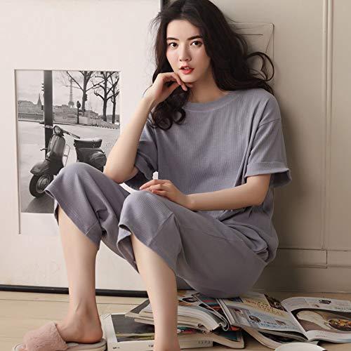Pantalones Servicio Llevar Mujer Sueltos Cortos Portátil M Xxl Para Pijamas Domicilio Baujuxing De Algodón A Conjunto P0Y5qEv