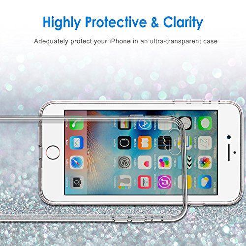 JETech iPhone 6s/6 Plus Case 5.5 Inch Shock-Absorption Bumper Cover Anti-Scratch Clear Back for Apple iPhone 6s Plus and iPhone 6 Plus - 0701