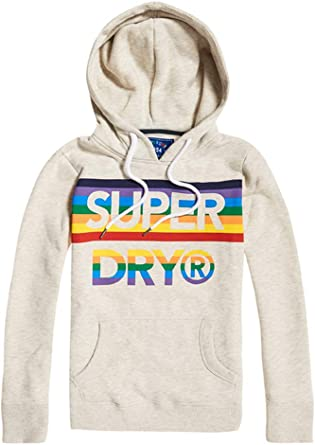 Superdry Track and Field CB Hood Sweat Shirt À Capuche, Gris