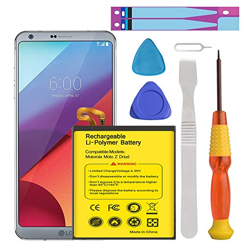 (LG G6 Battery, Euhan 3500mAh Li-Polymer Battery BL-T32 Replacement for LG G6 (H870 H871 H872 LS993 VS998) with Repair Screwdriver Tools | G6 Battery Replacement Kit [24 Month Warranty])